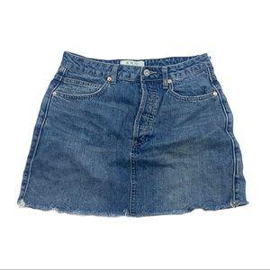 "Free People "" we the free "" Jean denim mini skirt"